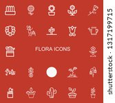 editable 22 flora icons for web ... | Shutterstock .eps vector #1317199715