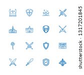 editable 16 medieval icons for... | Shutterstock .eps vector #1317201845