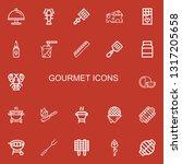 editable 22 gourmet icons for... | Shutterstock .eps vector #1317205658