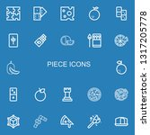 editable 22 piece icons for web ... | Shutterstock .eps vector #1317205778