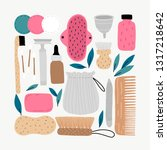 hand draw doodle illustration... | Shutterstock .eps vector #1317218642
