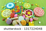 colorful lollipops and... | Shutterstock . vector #1317224048
