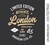 london typography. vintage... | Shutterstock .eps vector #1317227822