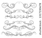 ornament frames and scroll... | Shutterstock .eps vector #1317230678