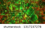 vector abstract 3d crystal. a... | Shutterstock .eps vector #1317237278