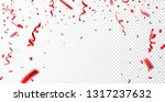 red confetti   isolated on...   Shutterstock . vector #1317237632