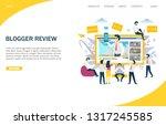 blogger review vector website... | Shutterstock .eps vector #1317245585