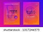 dj party. trendy concert... | Shutterstock .eps vector #1317246575