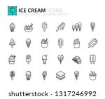 outline icons about ice cream....   Shutterstock .eps vector #1317246992