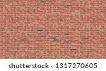 old red brick wall seamless... | Shutterstock .eps vector #1317270605