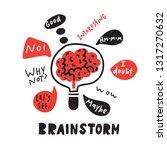 brainstorm. funny hand drawn... | Shutterstock .eps vector #1317270632