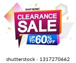 clearance sale  up to 60  off ... | Shutterstock .eps vector #1317270662