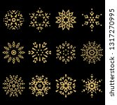 snowflakes icon collection.... | Shutterstock .eps vector #1317270995