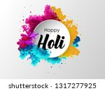 happy holi vector elements for... | Shutterstock .eps vector #1317277925