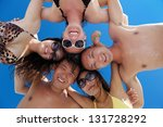 group of happy young people... | Shutterstock . vector #131728292