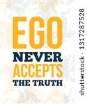 trendy poster with ego quote... | Shutterstock .eps vector #1317287528