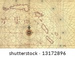 Old Map And Compass Rose