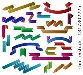 set of ribbon banners | Shutterstock .eps vector #1317302225
