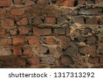 textured background  wall  old  ... | Shutterstock . vector #1317313292