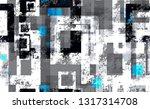 seamless urban geometric grunge ... | Shutterstock .eps vector #1317314708