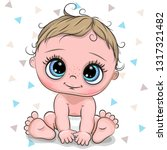 cute cartoon baby boy isolated... | Shutterstock .eps vector #1317321482