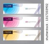 vector abstract web banner... | Shutterstock .eps vector #1317333902