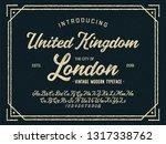 vintage brush script modern... | Shutterstock .eps vector #1317338762