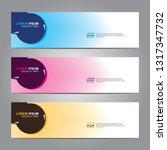 vector abstract web banner... | Shutterstock .eps vector #1317347732