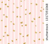 gold heart seamless pattern.... | Shutterstock . vector #1317351068