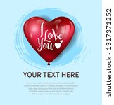 i love you concept design with... | Shutterstock .eps vector #1317371252