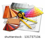 interior design. architectural... | Shutterstock . vector #131737136