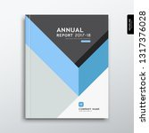 cover annual report blue and... | Shutterstock .eps vector #1317376028