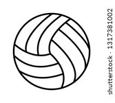 volley ball line black icon | Shutterstock .eps vector #1317381002