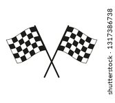 racing flag. simple vector... | Shutterstock .eps vector #1317386738