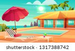 luxury tropical resort hotel... | Shutterstock .eps vector #1317388742