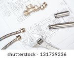 plumbing and drawings are on... | Shutterstock . vector #131739236