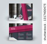 brochure template. business... | Shutterstock .eps vector #1317400475