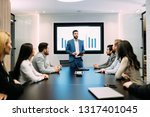 picture of business meeting in... | Shutterstock . vector #1317401045