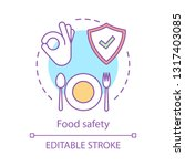 food safety and quality concept ... | Shutterstock .eps vector #1317403085