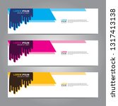 vector abstract web banner... | Shutterstock .eps vector #1317413138