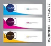 vector abstract web banner... | Shutterstock .eps vector #1317418772