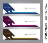 vector abstract web banner... | Shutterstock .eps vector #1317420962