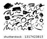black dry brushstrokes hand... | Shutterstock .eps vector #1317423815