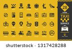 taxi cab car service glyph icon ... | Shutterstock .eps vector #1317428288