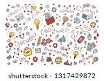 vector copywriter set. doodle... | Shutterstock .eps vector #1317429872