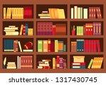 vector illustration of wooden... | Shutterstock .eps vector #1317430745