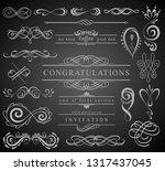 set of vintage decorations... | Shutterstock .eps vector #1317437045