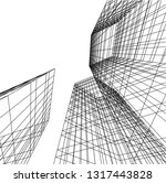 architectural drawing 3d | Shutterstock .eps vector #1317443828