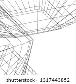 architectural drawing 3d | Shutterstock .eps vector #1317443852