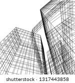 architectural drawing 3d | Shutterstock .eps vector #1317443858